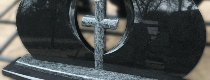 Dvieju daliu paminklas su kryziumi